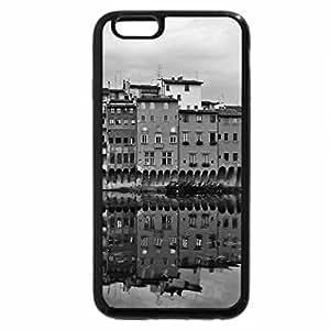 iPhone 6S Plus Case, iPhone 6 Plus Case (Black & White) - city on the river