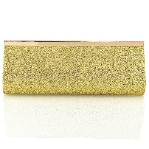 Glitter Bag Essex Bridal Diamante Womens Clutch Gold Sparkly Glam twwO1qpz