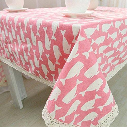 Verplim Mediterranean Style Cotton Cloth Fish Table Cover Gilette Fusion Jogo Americano De Jantar]()