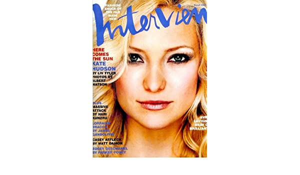 Interview Magazine - March 2003 - Kate Hudson cover: Ingrid Sischy: Amazon.com: Books