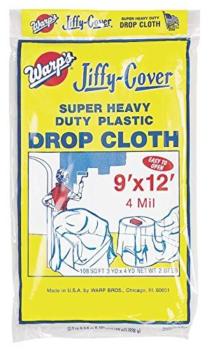 Warp Brothers 4JC-912 Jiffy Cover Super Heavy-duty Drop Cloth by Warp Brothers by Warp Brothers