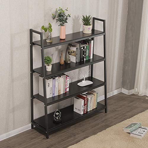 - 4 Tiers 48in Long Ladder Shelf For Living Room Kitchen Bedroom Plant Stand Storage Shelves Rack For Store ,Book Shelf Kitchen Food Flowers Storage Heavy Duty Shelves (48in x 57in x 13.7in x 4Tiers)