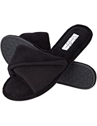 Open Toe Scuff House Slippers, Womens Indoor Shoe