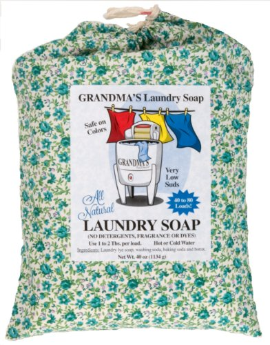 Grandmas Pure   Natural All Natural Laundry Soap  White  Unscented  40 Ounce