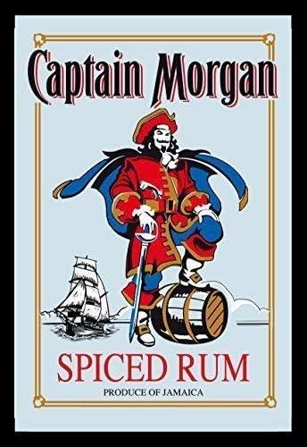 Captain Morgan Spiced Ron Nostalgia Espejo de BAR Espejo BAR ...