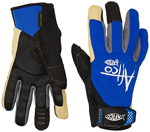 AFTCO GLOVERBlUE Release Fishing Gloves, Large, Black/Blue