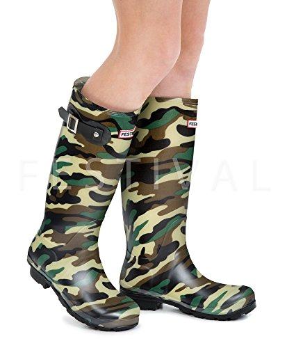 9 Original 3 Sizes Wellington Wellies UK Ladies Winter Camouflage Boots Rain Camo 6SwOvUxOq