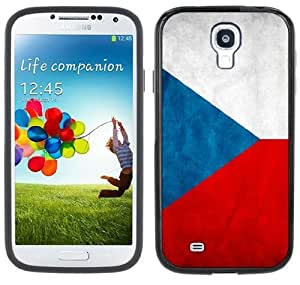 Czech Republic Flag Samsung Galaxy S4 Black Bumper Hard Plastic Case