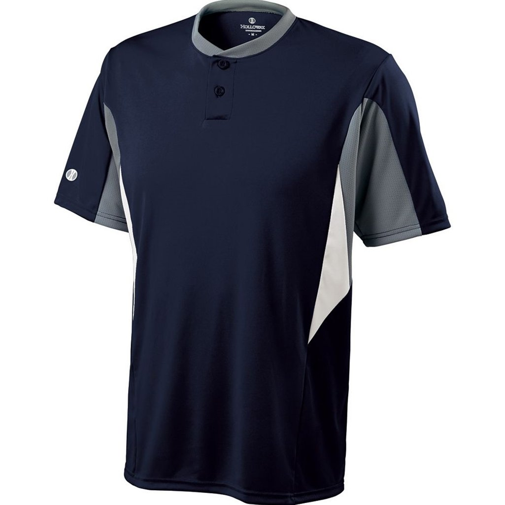 Holloway Dry-Excel Youth Rocket Jersey (Large, True Navy/Blue Grey/White) by Holloway