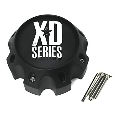 XD Series by KMC Wheels KMC XD Series 441 796 797 798 800 801 8 Lug Matte Flat Black Center Cap 1079L170-MB-8LUG: Automotive