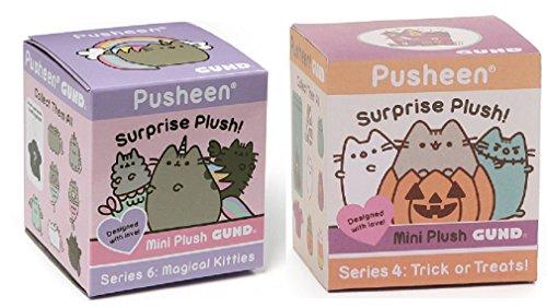 DHE GUND Pusheen Halloween Blind Box Series 4 Bundle with Pusheen Magical Kitties Blind Box Series -