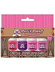 Piggy Paint Nail Polish- 4 Bottle Box- Non-toxicColors...