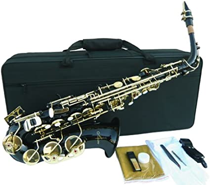 WARRANTY. NEW BRASS CURVED SOPRANO SAXOPHONE SAX W//CASE-QUALITY