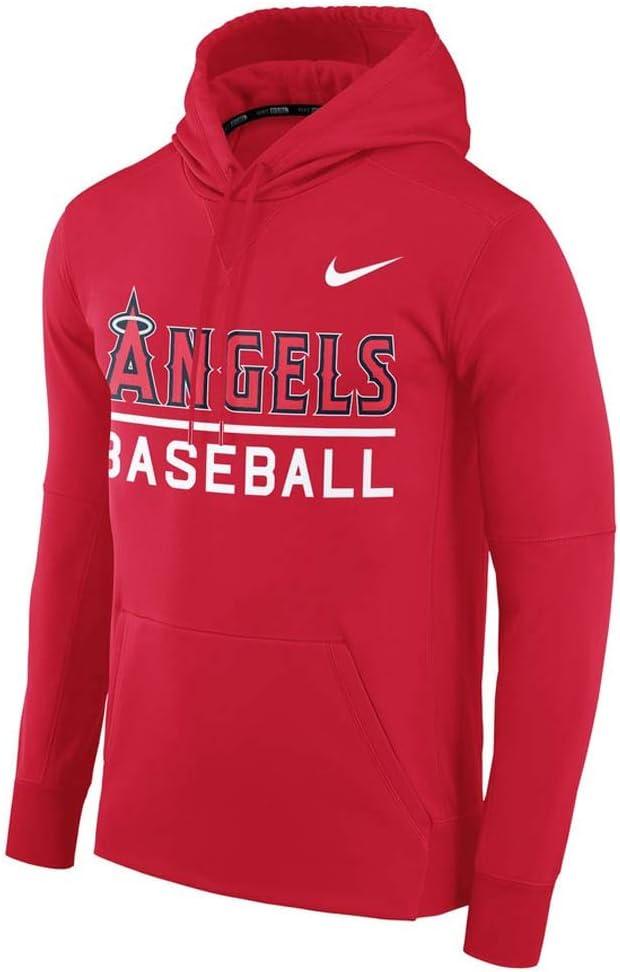 Nike(ナイキ) MLB エンゼルス パーカー/フーディー サーマ メンズ 00034179X-AN1 (レッド)  Medium