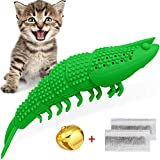 HETOO Cat Catnip Toys,Interactive Cat Toothbrush Chew Toy for Kitten Kitty Cats Teeth Cleaning...