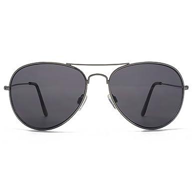 fb403cdc9d61 M:UK Portobello Classic Aviator Sunglasses in Gunmetal MUK147850: Amazon.co. uk: Clothing