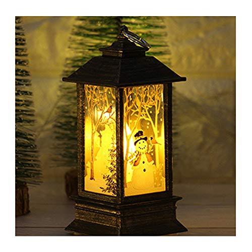 Creative Simulated Flame Light,Bedroom Decoration Christmas Kids Oil Light Wall Decoration for Living Room,Bedroom,Home,Elk, Snowman, Jesus, Santa Claus (B) ()