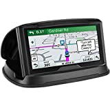 GPS Holder Car, Cell Phone Holder Car Dashboard, Reusable Silicone Pad Universal Car Mount Cradle Garmin GPS, iPhone 6 Plus 7 Plus 8 Plus X,Samsung Galaxy S9 S8,3-6.8 inch Smartphones - Black