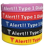 MedicalAlert Type 1 Diabetic Silicone Bracelet
