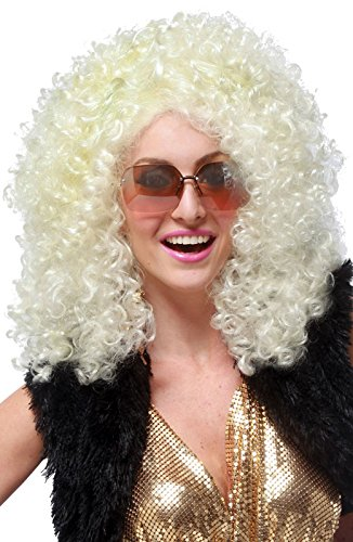 [California Costumes Women's Dancing Queen Wig, Blonde, One Size] (Disco Queen Halloween Costume)