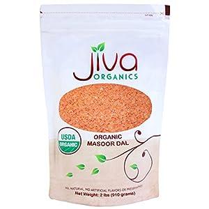 Jiva USDA Organic Masoor Dal (Split Red Lentils) 2 Pound