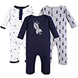 Yoga Sprout Baby Cotton Union Suit, Spaceship