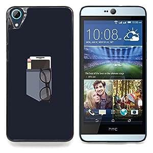 "Qstar Arte & diseño plástico duro Fundas Cover Cubre Hard Case Cover para HTC Desire 826 (Bolsillo minimalista"")"
