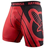 Hayabusa Recast Compression Shorts, Red/Black, Medium