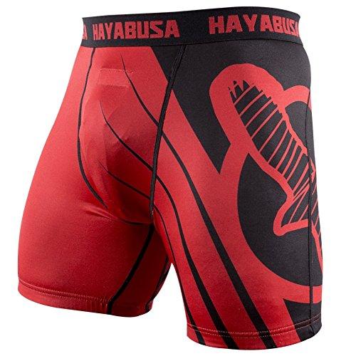 Hayabusa Recast Compression Shorts, Red/Black, Large