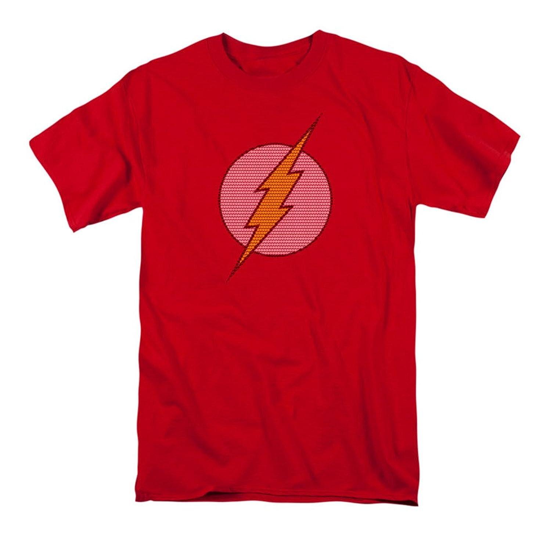 DC Comics Flash Little Logos Adult T-Shirt Tee