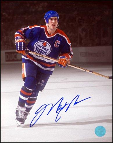Mark Messier Edmonton Oilers Autographed Captain Spotlight 8x10 Photo