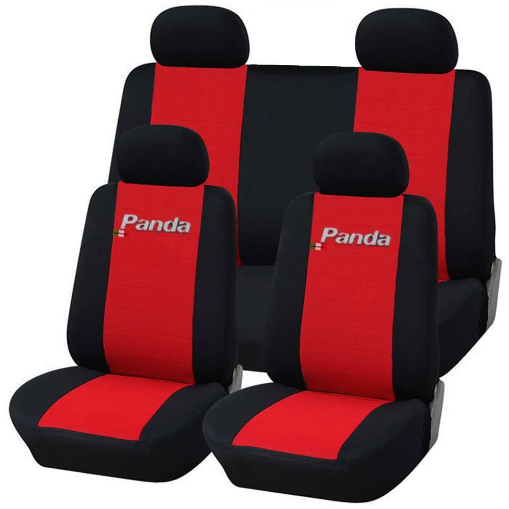 Lupex Shop Panda.014b.Rs Coprisedili Auto, Rosso/Nero