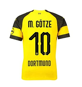 8c6a956ce64 SDEGJM Borussia Dortmund 18 19 Mario Götze  10 Jerseys Men s Home Jersey  Football T