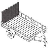 "6′ 4"" x 10′ Utility Trailer Plans - 3,500 lb Capacity | Trailer Blueprints Model U76-120-35J"
