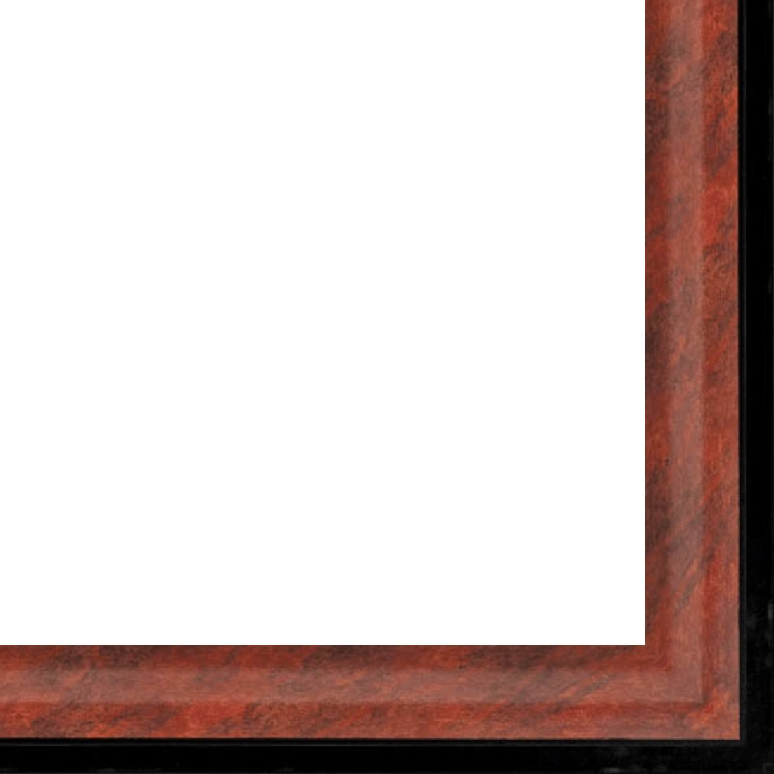 Picture Frame Moulding (Wood) 18ft bundle - Contemporary Mahogany Finish - 1.375'' width - 1/2'' rabbet depth