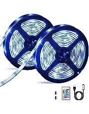 Striscia LED 6M, OMERIL Impermeabile LED Striscia RGB 5050 con Telecomando RF, Striscia luminosa LED alimentata USB con 16 Colori e 4 Modalità per Decorazioni, Cucina, Bar, Festa, Natale, TV ecc(2x3m)