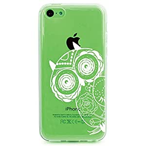 Topforcity PC + TPU Chevron with Anchor Pattern Hybrid Impact Armored Hard Case for Apple iPhone 5C (green) by paywork