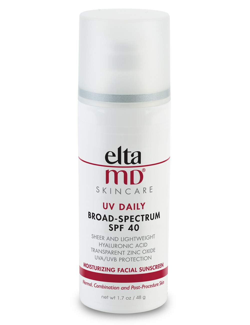 EltaMD UV Daily Facial Sunscreen Broad-Spectrum SPF 40 for Normal and Combination Skin, Dermatologist-Recommended Mineral-Based Zinc Oxide Formula, 1. 7 oz by ELTA MD