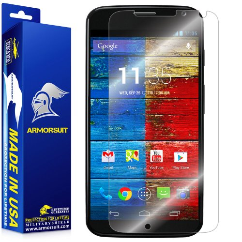 ArmorSuit MilitaryShield - Motorola Moto X Phone Screen Protector Shield Ultra Clear + Lifetime Replacements (Custom Phone Case Moto X compare prices)