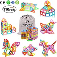 (110 PCS) Magnetic Building Blocks Educational Stacking Blocks Toddler Toys for Preschool Boys Grils Educational and...