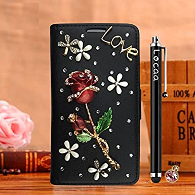 Amazon.com: Locaa(TM) For Vodafone Smart Turbo 7 New Cover Design Case 3D Bling Leather Back Wallet Women Protective Gift Protector Colorful Handmade Shock ...