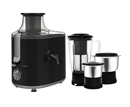 ... Whiteline Montero 550-Watt Juicer Mixer Grinder Full Apple Feeding Tube with 3 Jars (Premium Black & Silver) Online at Low Prices in India - Amazon. in