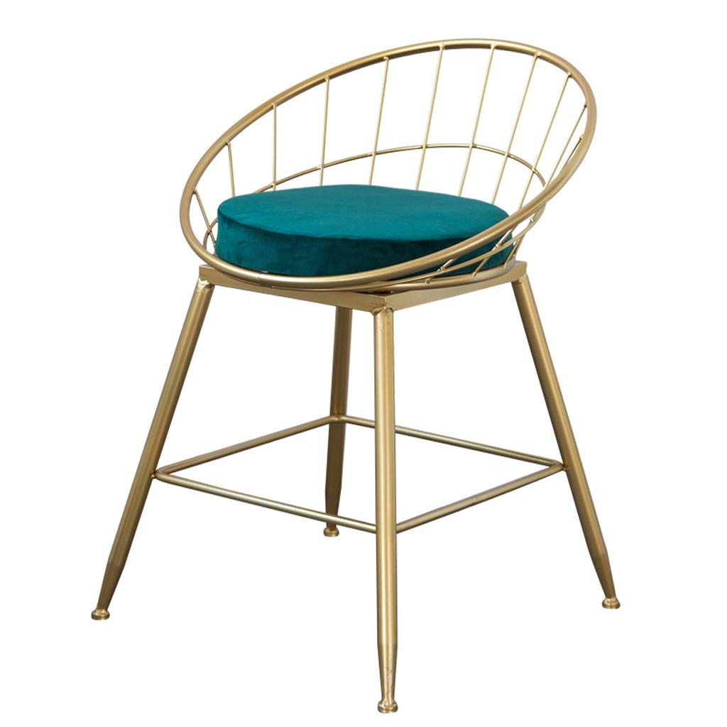 S 45cm LBYMYB Bar Stool Iron Art Bar Chair gold Home High Stool Modern Dining Chair Wire Bar Chair Nordic Style Chair (Size   S 45cm)