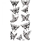 SPESTYLE waterproof non-toxic temporary tattoo stickersWaterproof and sweat temporary tattoos sexy black butterfly