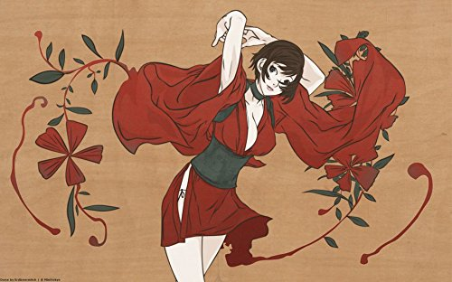 6-HOB545 Red Ninja Kurenai Akemi Shingen Takeda 96cm x 60cm ...