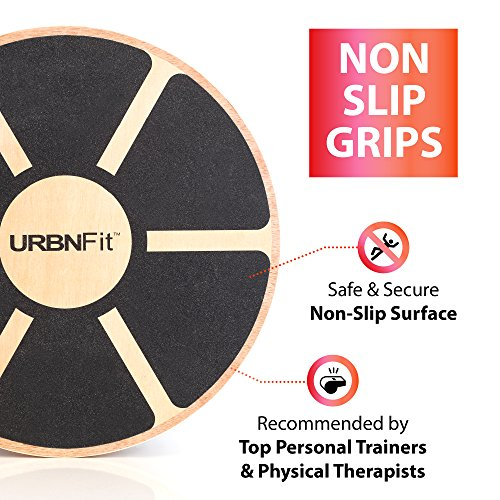 URBNFit Balance Board - Core Trainer Made Of Wood - Increase Stability, Strength and Flexibility - Ballet and Dance trainer