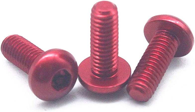M3 6~12mm 7075 Aluminum Alloy Button Head Screws,Hex Socket Bolts Multi-Color