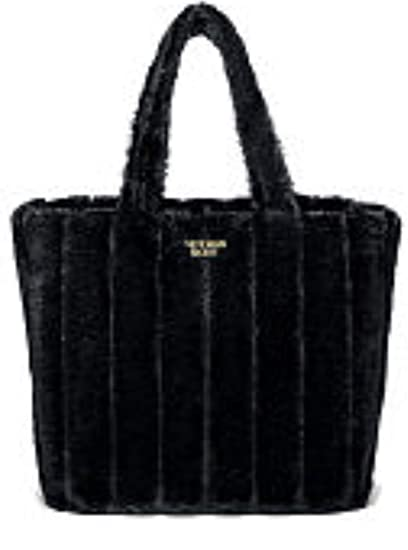 Amazon Com Victoria Secret Fashion Show Black Faux Fur Tote