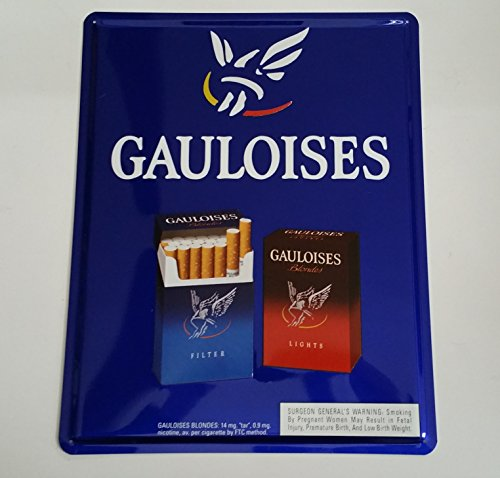 Gauloises Cigarettes Blondes and Lights Advertising Tin or Metal ()