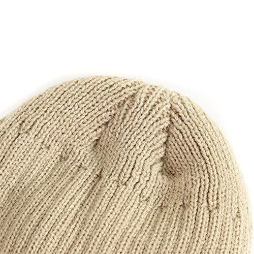 Sombrero Tapa de Beanie Grueso Sombrero Hombre para Mujer Punto Casquillo de Alian Hombres Invierno Forrado gris Gorro Fleece Invierno de Mujer ZwPqT